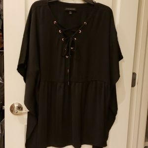 Black Blouse w/Rose Gold Accents